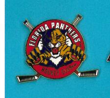 NHL hockey pin - Florida Panthers - logo crossed sticks - badge