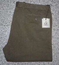 C.P. Company Men's Dark Green Chino Pant Casual Trousers (Open Hem) - W40/L34