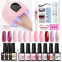 UR SUGAR Nail UV Gel Polish 54W Nail Dryer Lamp Base Top Coat Gel Starter Kit