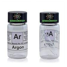 Argon gas element 18 Ar sample 99,9% mini ampoule inside labeled glass vial