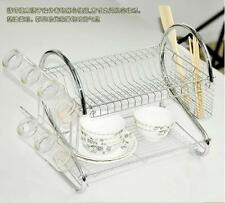 Stainless Steel Plate/Tray Dish Cup Drainer Rack Drip Cutlery Holder Organzie