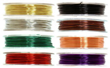 The Craft Factory Coloured Brass Wire, 5m x 0.5mm