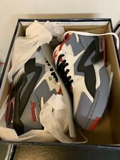 British Knights Dymacel Control Mid Size 10.5 Sneakers White/gray/ Black / Red