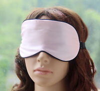 AU Stock 100% Pure Silk Soft Wide Women Lady Rest Travel Sleeping Eye Mask