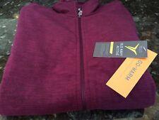 OLD NAVY Women's Go Warm Preformance Fleece Zip Up Jacket BURGUNDY Sz LARGE NWT!