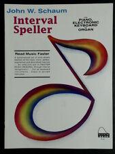 John Schaum Interval Speller Piano-Electronic Kbd-Organ New-Old Stock FREE SHIP