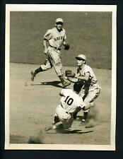 John Berardino & Phil Rizzuto 1947 Type 1 Press Photo St. Louis Browns Yankees