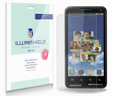 iLLumiShield Matte Screen Protector w Anti-Glare/Print 3x for Motorola MOTOLUXE