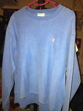 Champion Reverse Weave Blue Sweatshirt Mens Sz Large