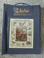 """ANCHOR PREMIER """"OWL & WOODLAND WILDLIFE"""" COUNTED CROSS STITCH FULL KIT *NEW*"""