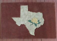 Yellow Rose of Texas Area Rug 4' x 6' Hand Inlaid and Carved