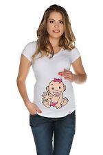 (Nr.0TM-T3-S) Gr.S Schwangerschafts-T-Shirt Umstandsmode UMTSANDS-TSHIRT NEU