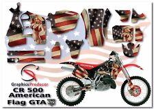Honda CR500 1989-2001 Custom Kit Graphics Full Set Design American Girl Sticker