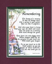 The Loss of a Loved One #102, Touching 8x10 Bereavement Poem