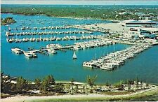 Dinner Key and Yacht Moorings along the shore of Biscayne Bay in Miami, Florida