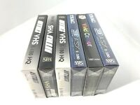 6x Mixed Lot TEAC Etc E-180 VHS tapes All New Sealed Blank Media