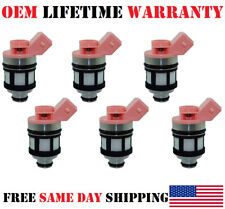 6pcs OEM Jecs Fuel Injectors for 1990-91-92-93-94-95 Nissan Pathfinder 3.0L V6