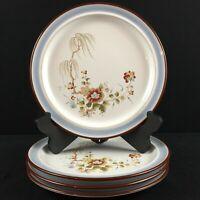 Set of 4 VTG Salad Plates Noritake Eastwind Mustard Rust Floral 8349 Japan