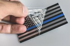 ALUMINUM Thin Blue Line Sticker Emblem American Flag Law Enforcement Emblem