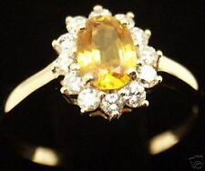 Beautiful Women 14k Gold Sapphire Diamond Ring, Sz 7.25