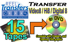 REEL TRANSFERS - Convert Video8/Hi8/Digital8  to DVD    FIFTEEN TAPE SPECIAL!