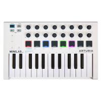 Arturia MiniLab MK2 Compact 25 Note USB MIDI Keyboard Controller - White