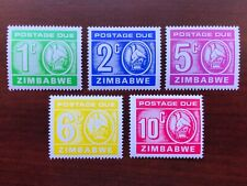 Zimbabwe 1980 Scott #J20-J24 Postage Due Mint NH