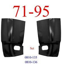 71 95 Chevy Van Cargo Corner Panel Set, GMC G10 G20 G30 Rust Repair Both Sides!