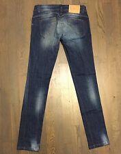 Animo Women Designer Jeans Equestrian Silver Skinny Sz 40 (US 4) Medium Wash