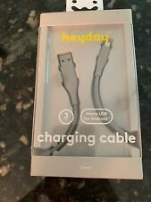 New Heyday Usb-C charging cable cord for Android 3ft Wild Dove Nwt Gray