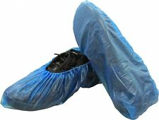 "Shield Safety 16"" Economy Disposable Blue Bottom Shoe Cover 500 Pieces"