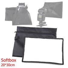 Portable 20*30cm Softbox Soft Box for Flash Light Speedlite Photo Speedlight New