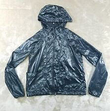 Athleta Rain Running Full Zip Hooded Black Jacket Sz Small Womens Lightweight -W