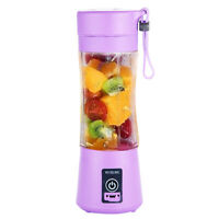 Portable 380ml USB Electric Fruit Juicer Smoothie Maker Blender Shaker Bottle