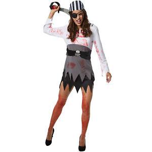 Kostüm Damen Zombie Geisterpirat Piratin Seeräuberin Fasnacht Karneval Halloween