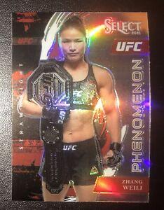UFC SELECT ZHANG WEILI PHENOMENON INSERT SILVER!! BEAUTIFUL CARD!!