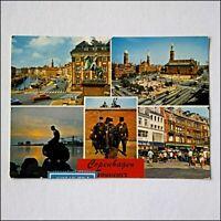 Copenhagen Souvenir 5 Views 1977 Postcard (P402)
