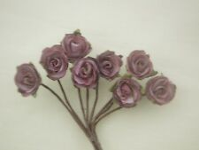Dolls House Flowers 8 Dusky Pink Roses  #64ac
