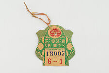 Grand Stand And Paddock The Saratoga Association Ticket Dated July 29, 1936 V25