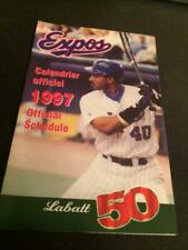 1997 Montreal Expos Baseball Pocket Schedule Labatt Version #40 Henry Rodriguez