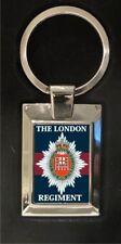 The London Regiment - high polished metal keyring
