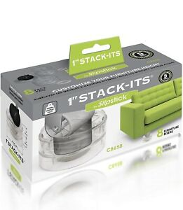 Slipstick CB658 Stack-Its 1 Inch Adjustable Bed Risers/Furniture Risers (Set ...