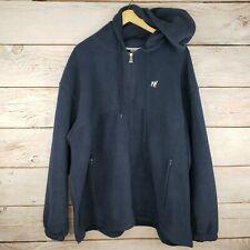 "Big Dogs ""Polar Dogs"" 3X Hooded Full Zip Fleece Sweater Jacket, Navy Blue, 3XL"