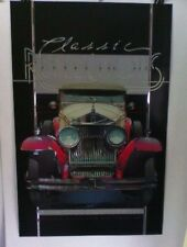 Vintage poster by Palombi of Classic Rolls Royce Auto  Classic Reflections mylar