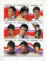 Tanzania 1992 MNH Bruce Lee Martial Arts 9v M/S Actors Celebrities Stamps