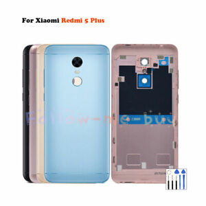 For Xiaomi Redmi 5 Plus Metal Battery  Housing Door Back Cover Replacement Parts