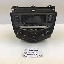 03-07 HONDA ACCORD COUPE OEM Radio Stereo 6 Disc Changer CD Player