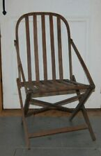 Original Civil War Campaign Fold Chair 11th Maine Captain S.H. Merrill. Dovetail