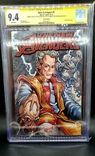 The New Avengers Comic Sketch Cover Chad Hardin Signed by Jeff Goldblum CGC 9.4