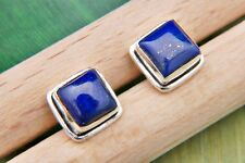 Ohrstecker Ohrringe Silber 925 Sterlingsilber Lapis Lazuli blau Stein